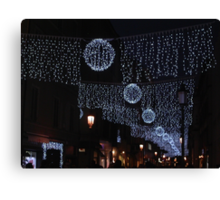 LUSTRINI,LUCINE ....BETWEEN SEQUINS AND LIGHTS ....PARMA - ITALY - EUROPA  -VETRINA RB EXPLORA 5 DICEMBRE 2012 - Canvas Print