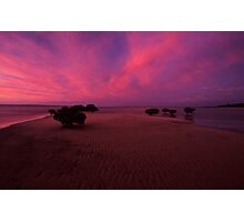 Rippled sand - Westernport bay, Vic. Photographic Print