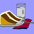 Birthday Cake and a Glass of Milk 2 by Pamela Burger