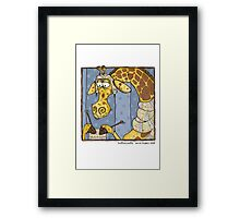 Knitting pretty Framed Print