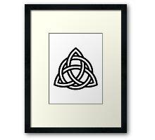 Celtic knot Framed Print