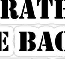 Right Now, I'd Rather Be Back In The '50s - Black Text Sticker