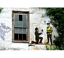 Street Art London Urban Wall Graffiti Artist Prolifik Gangster Proposal Photographic Print