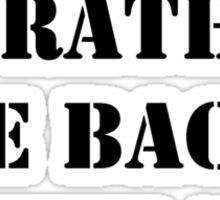 Right Now, I'd Rather Be Back In The '80s - Black Text Sticker