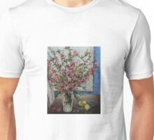 Vase with Flowering Quince Unisex T-Shirt
