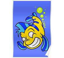 Flounderin' Poster