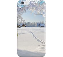 A christmas card. iPhone Case/Skin