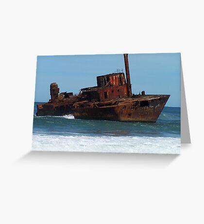 Shipwrecked on Stockton Beach Greeting Card