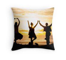 Sunset Yoga Throw Pillow