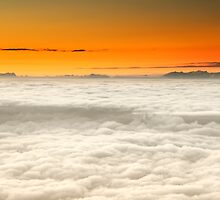Alpine Dawn Above the Clouds by Kasia-D