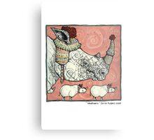 Neushoorn Metal Print