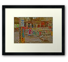 Camp 30 Cafeteria Framed Print