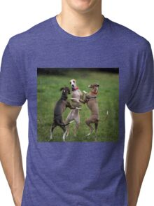 Wog Dogs Dancing Tri-blend T-Shirt