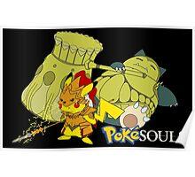 Snorlax & Pikachu Poster