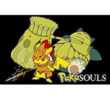 Snorlax & Pikachu Photographic Print