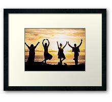 Sunset Yoga 2 in Pacific Beach CA Framed Print