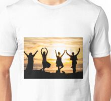 Sunset Yoga 2 in Pacific Beach CA Unisex T-Shirt