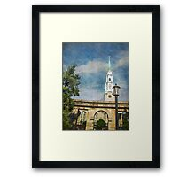 Historic Savannah Church Framed Print