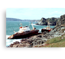 Shipwreck at Prawle Point Canvas Print