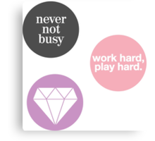 boss lady (set of 3 stickers) Canvas Print
