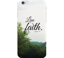 Live by faith Romans  iPhone Case/Skin