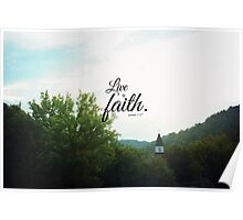 Live by faith Romans  Poster