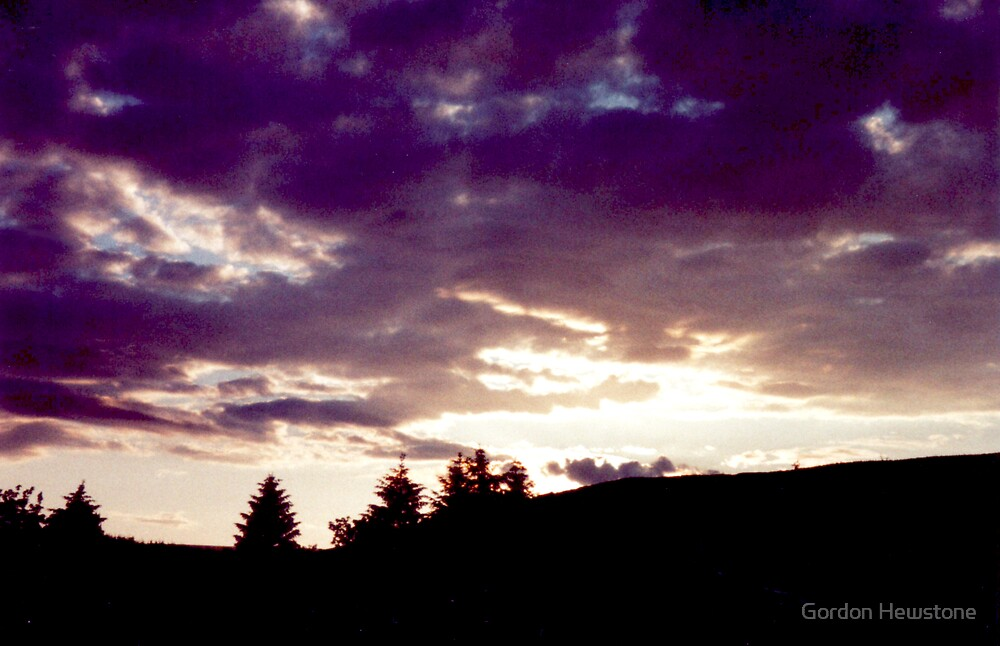 Byrness Sunset by Gordon Hewstone