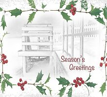 "Snowy Beach ""Season's Greetings"" ~ Greeting Card by Susan Werby"