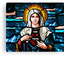 Stain Glass Mary Canvas Print