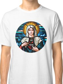 Stain Glass Mary Classic T-Shirt