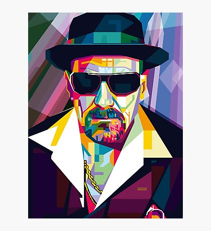 Pop Art Contemporary Artist Ultimate Gangster Conqr Bright 3d digital vector heisenberg breaking bad Photographic Print