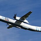 Flybe Dash 8 Q-400 at Manchester Airport by PlaneMad1997