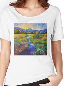Cascade Sunset Women's Relaxed Fit T-Shirt