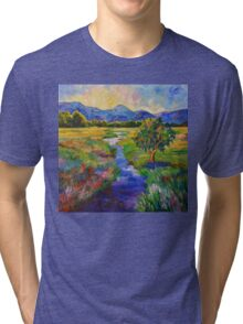 Cascade Sunset Tri-blend T-Shirt