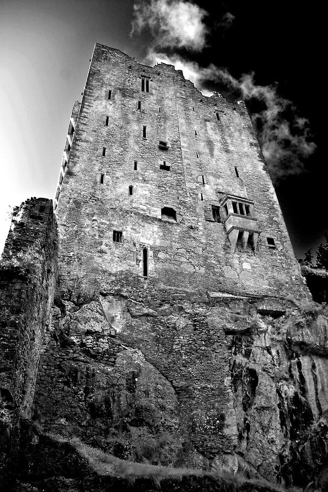 Blarney Castle, Ireland (b/w) by ThomasMaher