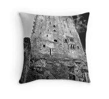 Blarney Castle, Ireland (b/w) Throw Pillow