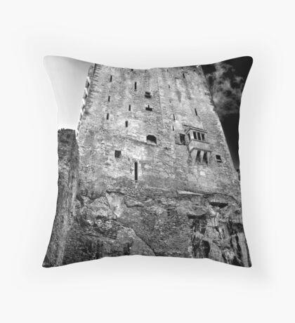 Blarney Castle, Ireland (b/w) Throw Pillow