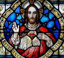Stain Glass Jesus by BadBehaviour