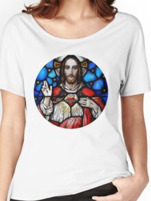 Stain Glass Jesus Women's Relaxed Fit T-Shirt
