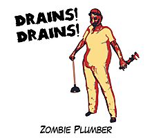 Zombie Plumber - borderless Photographic Print