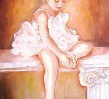 LITTLE BALLERINA AT REST PAINTINGS BY CAROLE SPANDAU by Carole  Spandau