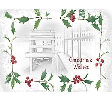 "Snowy Beach ""Christmas Wishes"" ~ Greeting Card Photographic Print"