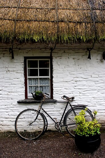 Old Bicycle at Bunratty Folk Park, Ireland by ThomasMaher