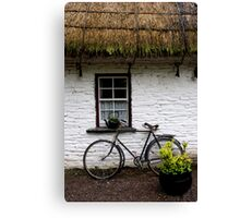 Old Bicycle at Bunratty Folk Park, Ireland Canvas Print
