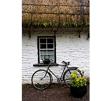 Old Bicycle at Bunratty Folk Park, Ireland Photographic Print