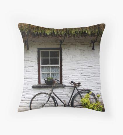 Old Bicycle at Bunratty Folk Park, Ireland Throw Pillow