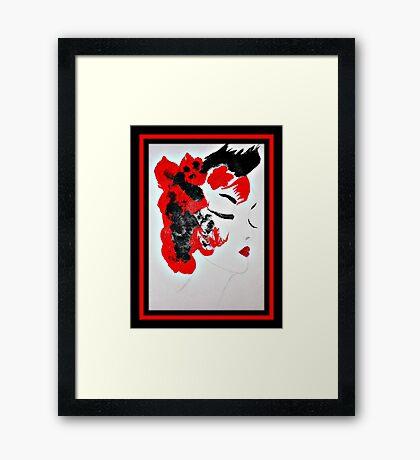 Funky Geisha Girl Framed Print