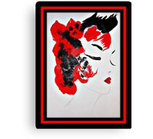 Funky Geisha Girl Canvas Print