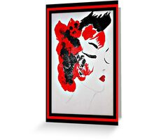 Funky Geisha Girl Greeting Card