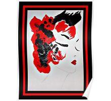 Funky Geisha Girl Poster